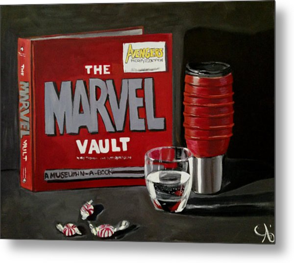Marvel Comic's Still Life Acrylic Painting Art Metal Print