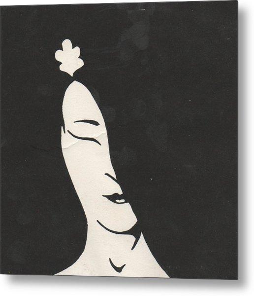Geisha Metal Print by T Ezell