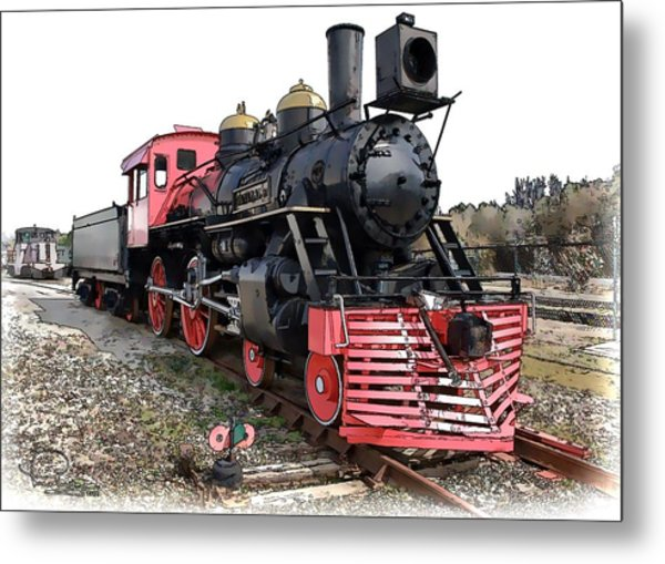 General II - Steam Locomotive Metal Print