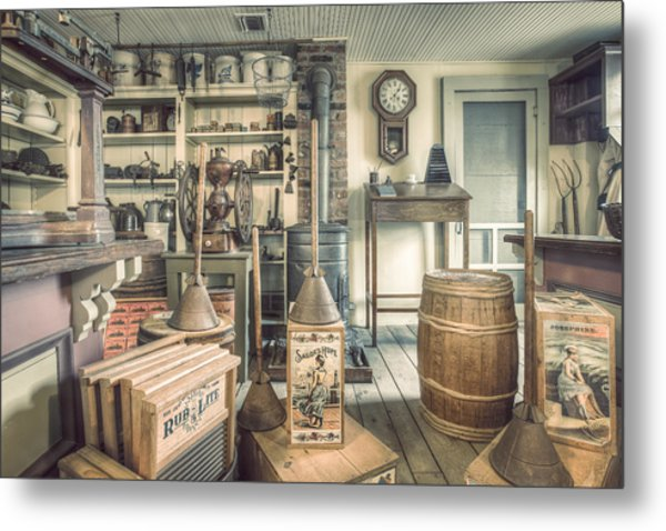 Metal Print featuring the photograph General Store - 19th Century Seaport Village by Gary Heller