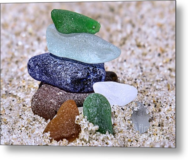 Genuine Sea Glass Metal Print