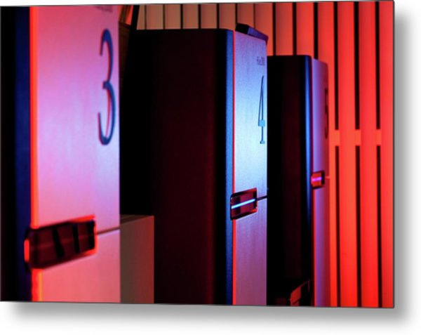 Genome Sequencing Machines Metal Print by Martin Krzywinski/science Photo Library