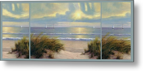 Gentle Breeze Trip Tych Metal Print