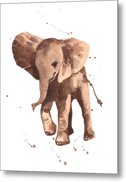 Gentle Graham Elephant Metal Print