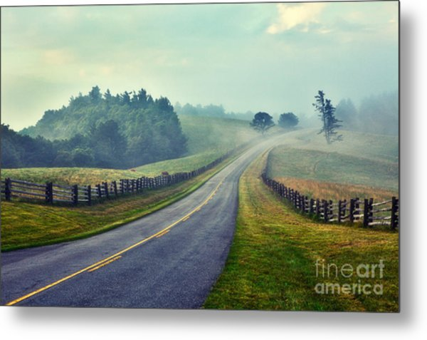 Gentle Morning - Blue Ridge Parkway II Metal Print