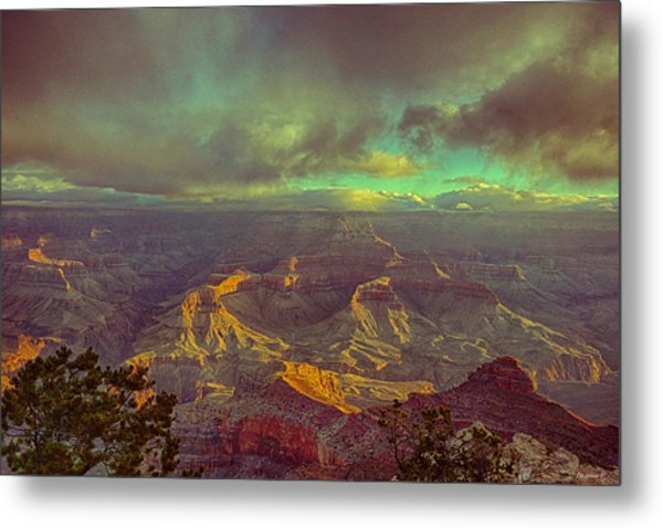 Gentle Sunrise Over The Canyon Metal Print