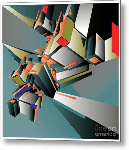 Geometric Colorful Design Abstract Metal Print