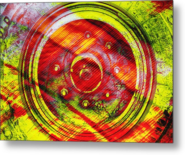 Geometric Colors  Metal Print
