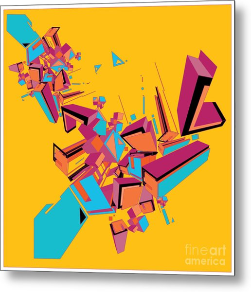 Geometric Design Abstract Background Metal Print