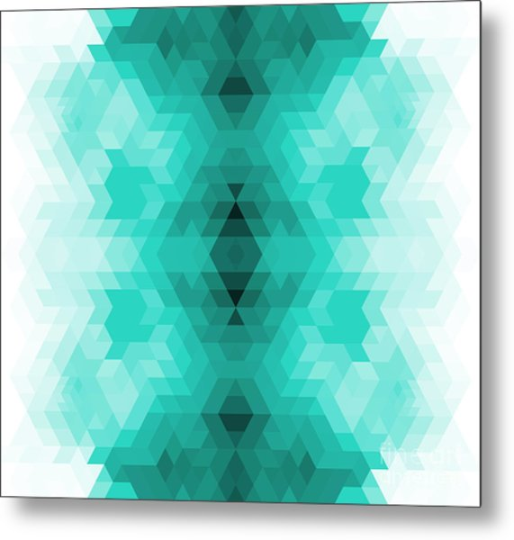 Geometric Hipster Retro Background Metal Print