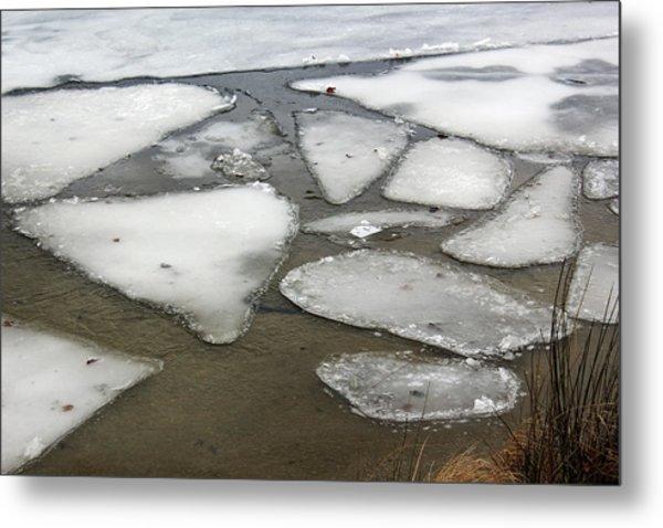 Geometric Ice  Metal Print