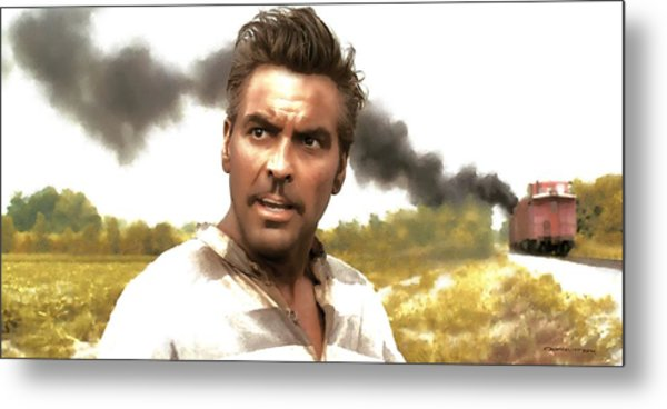 George Clooney In The Film O Brother Where Art Thou Metal Print