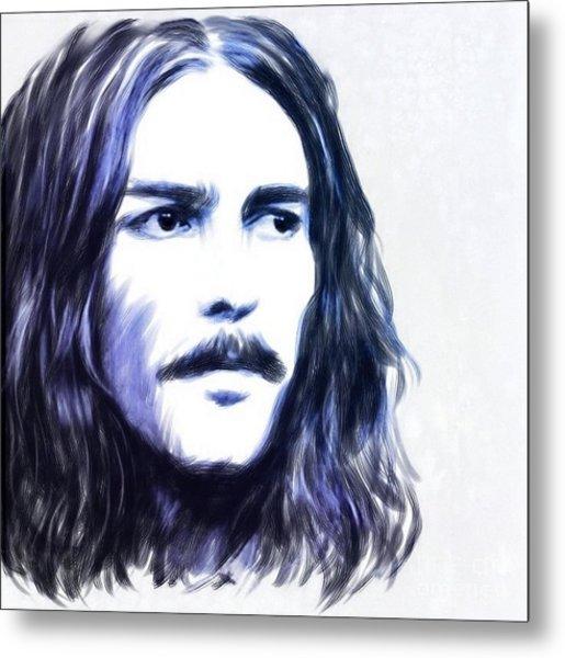George Harrison Portrait Metal Print by Wu Wei