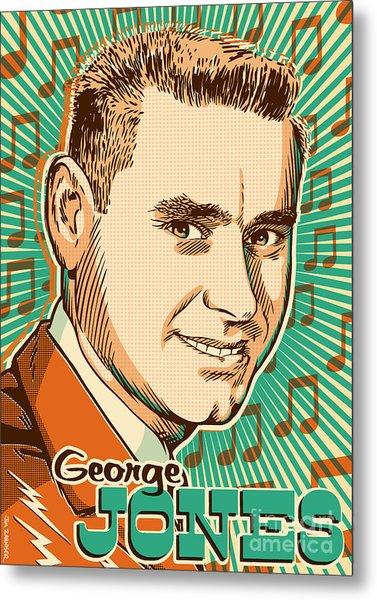 George Jones Pop Art Metal Print
