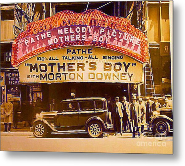 George M. Cohan Theatre In New York City In 1929 Metal Print by Dwight Goss