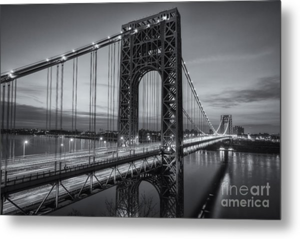 George Washington Bridge Morning Twilight II Metal Print