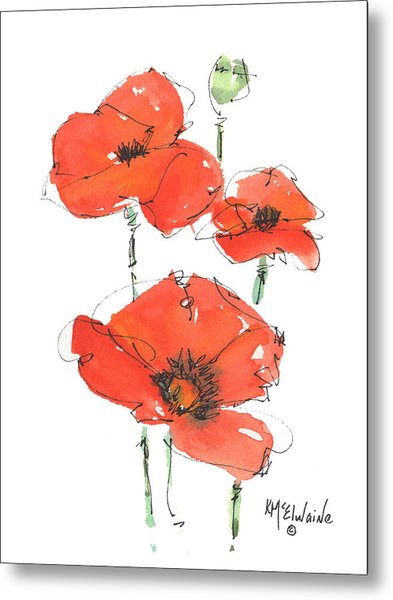 Georgetown Texas The Red Poppy Capital Metal Print