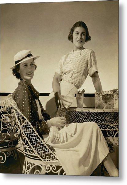Georgette Whelan And Mimi Richardson Metal Print