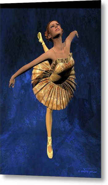 Georgia - Ballerina Portrait Metal Print by Alfred Price