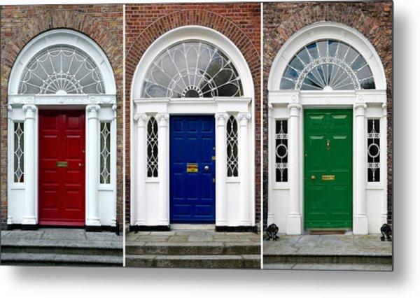 Georgian Doors - Dublin - Ireland Metal Print