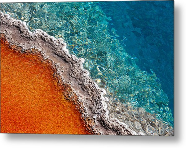 Geothermic Layers Metal Print