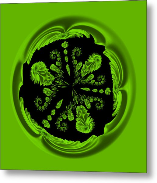 Gerbia Daisy Digitized Orb Metal Print
