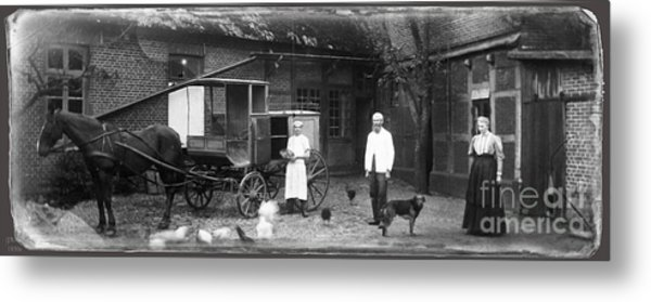 German Farm 1850's Metal Print