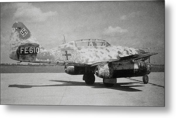 German Me 262 Wwii Jet Fighter Metal Print by Science Photo Library