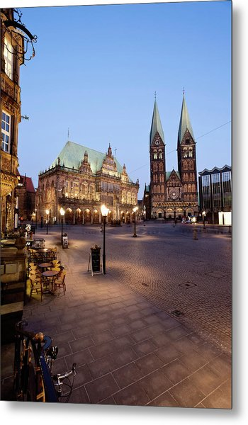 Germany, Bremen,  View Of Town Hall At Metal Print by Westend61