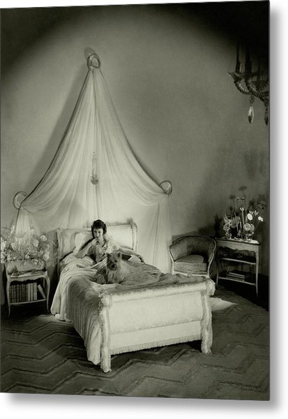 Gertrude Lawrence In Bed Metal Print