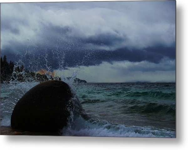 Get Splashed Metal Print