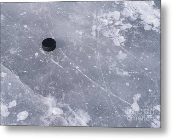 Get The Puck Outta Here Metal Print