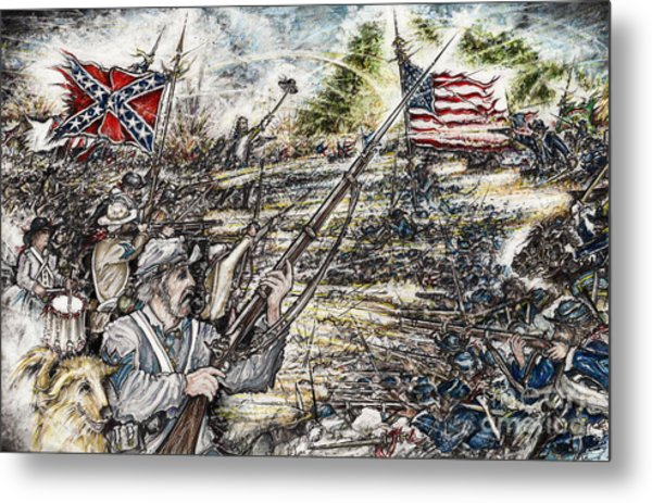 Gettysburg Ash's At The Angle Metal Print