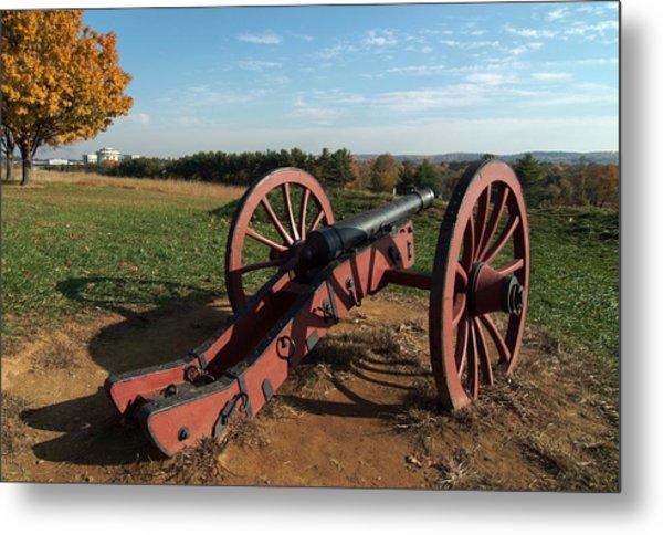 Gettysburg Cannon Metal Print