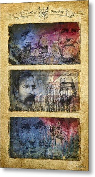 Metal Print featuring the digital art Gettysburg Tribute by Joe Winkler
