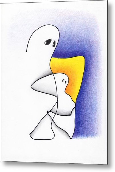 Ghost And Child Metal Print