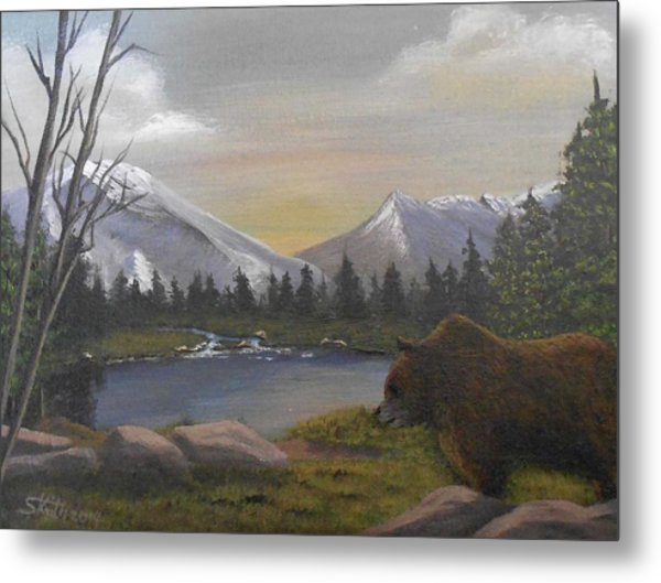 Ghost Bear-the Cascade Grizzly Metal Print