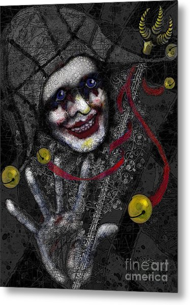 Ghost Harlequin Metal Print