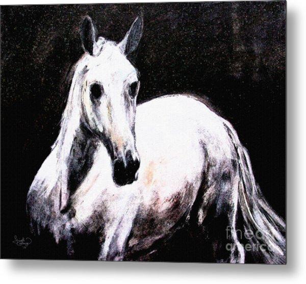 Ghost Horse Modern Painting Metal Print