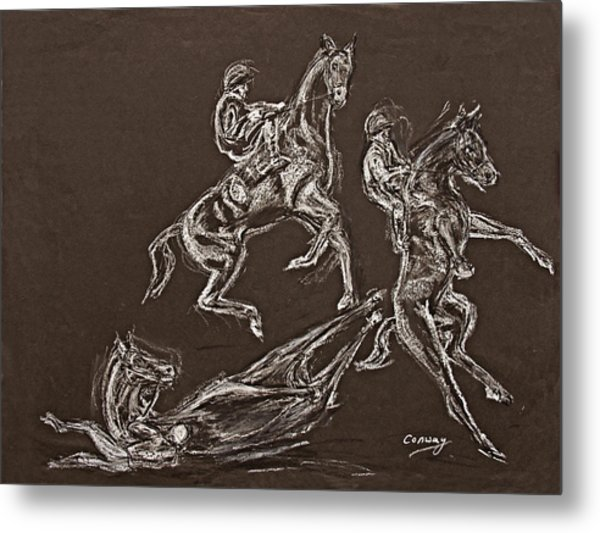 Ghost Riders In The Sky Metal Print