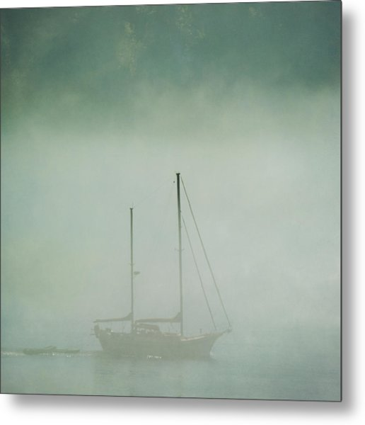 Metal Print featuring the photograph Ghost Ship by Sally Banfill