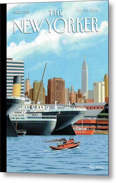 Ghost Ships Metal Print by Bruce McCall