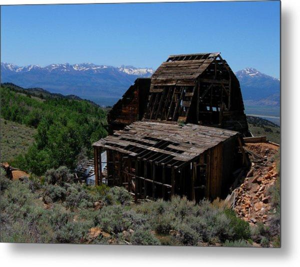 Ghost Town With View Of Eastern Sierras Metal Print