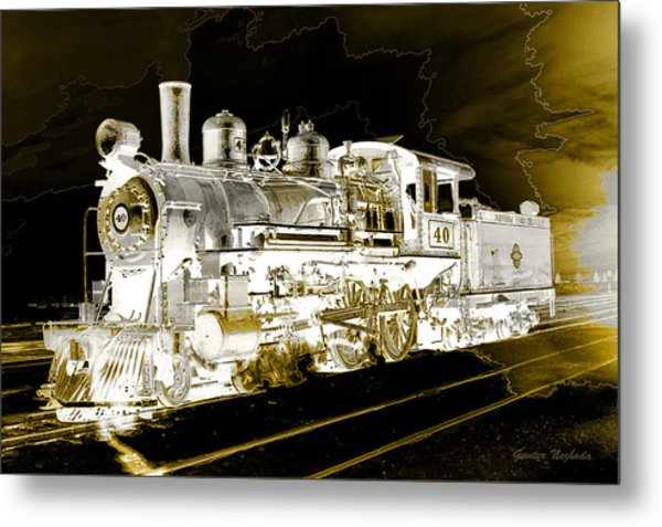 Ghost Train Metal Print