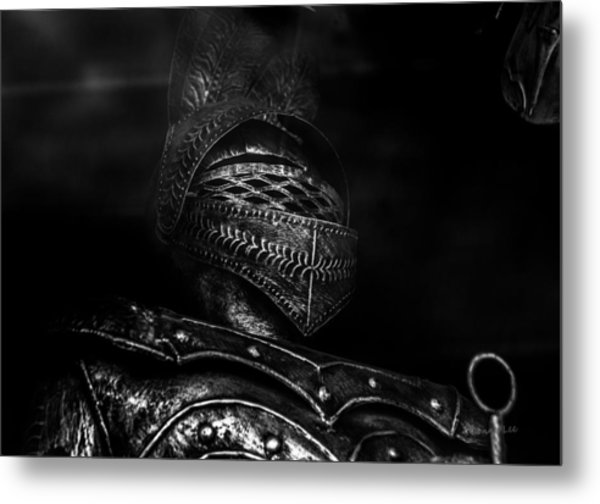 Ghostly Knight Metal Print