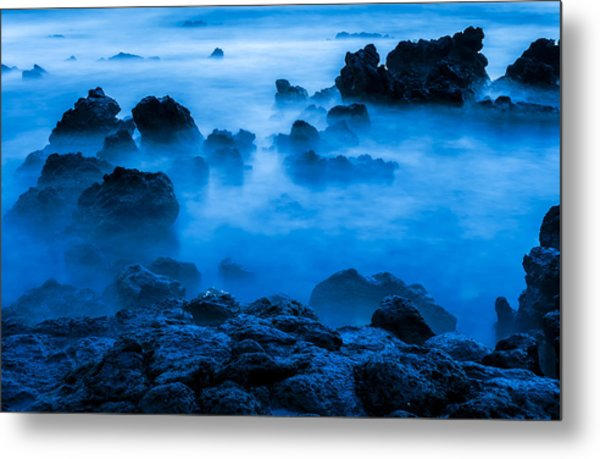 Ghostly Ocean 1 Metal Print