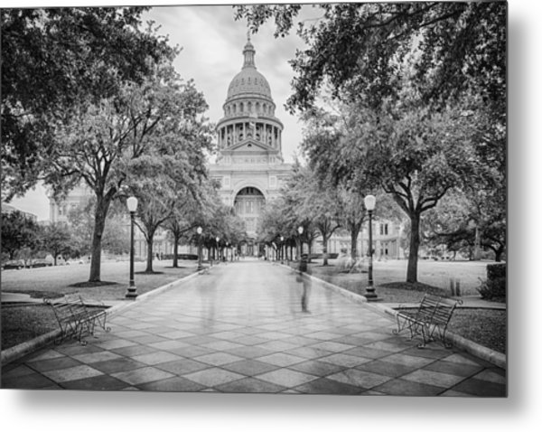 Ghosts Of The Texas State Capitol - Austin Texas Skyline Metal Print by Silvio Ligutti