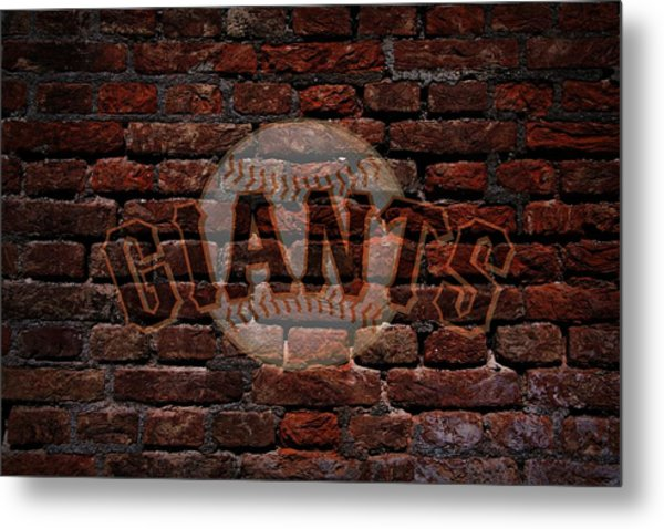 Giants Baseball Graffiti On Brick  Metal Print