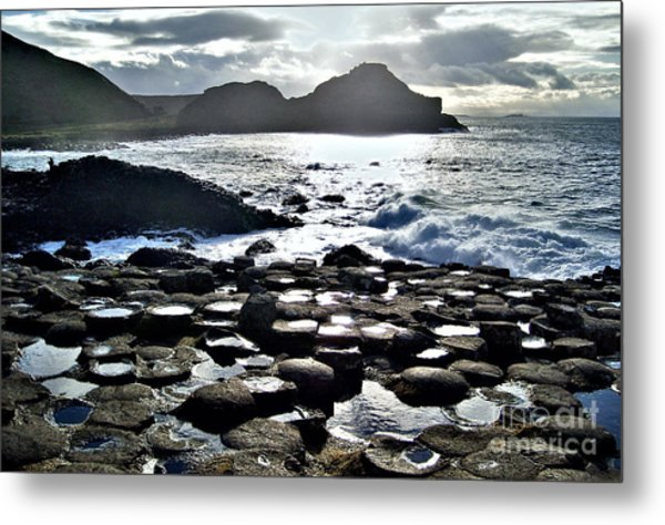 Giant's Causeway Sunset Metal Print