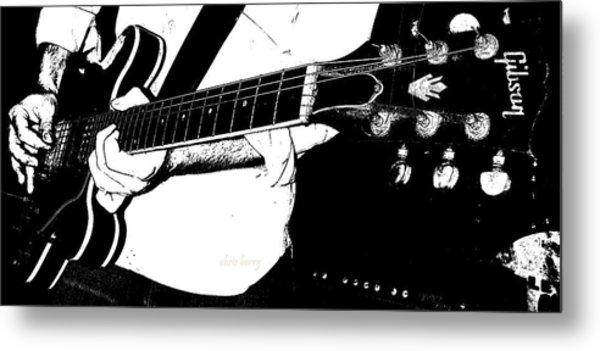 Gibson Guitar Graphic Metal Print